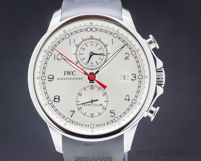 IWC IW390211 Portuguese Yacht Club Flyback SS Silver Dial