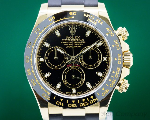 Rolex 116518LN Daytona Black Dial 18K Yellow Gold / Rubber