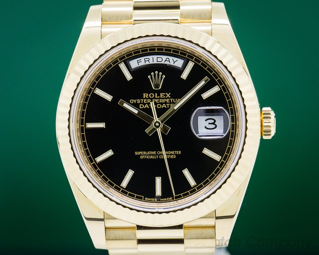 Rolex 228238 Day Date Presidential Black Dial / Yellow Gold 40MM