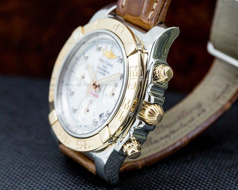 Breitling CB014012/A723 Chronomat 41 MOP Dial Rose Gold Bezel Diamond Markers