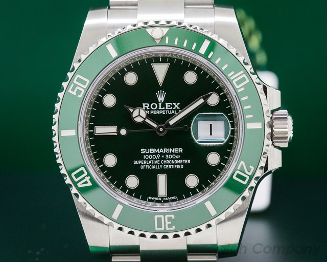 Rolex 116610LV Submariner Green Ceramic Bezel Green Dial SS UNWORN