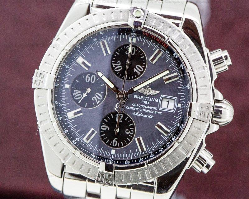 Breitling A13356 Chronomat Evolution Chronograph SS Anthracite Dial
