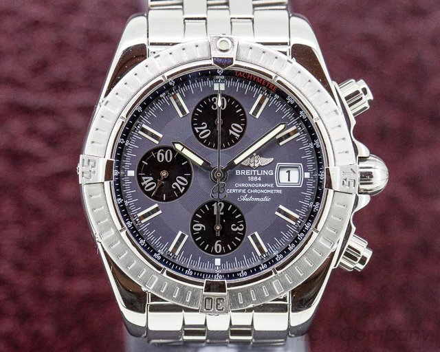 Breitling A13356 Chronomat Evolution Chronograph SS Anthracite Dial