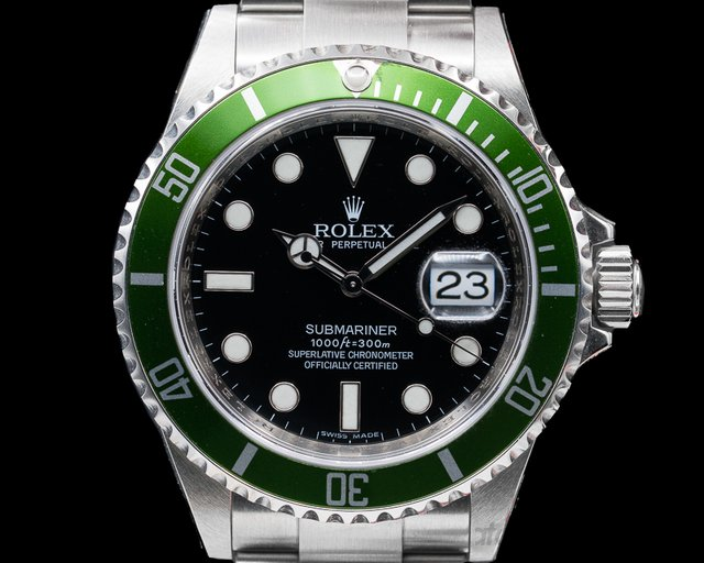 Rolex 16610LV Submariner 50th Anniversary SS Green Bezel NEW OLD STOCK
