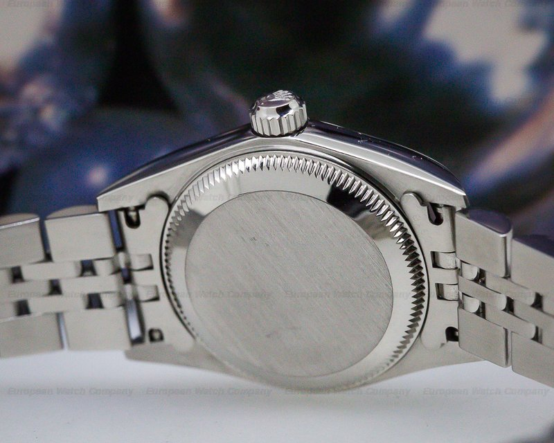 Rolex 76030 Oyster Perpetual Ladies White Roman Dial Engine Turned Bezel SS