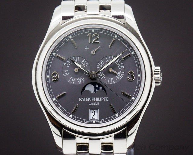 Patek Philippe 5146/1G-010 Annual Calendar 18K White Gold Slate Dial / Bracelet