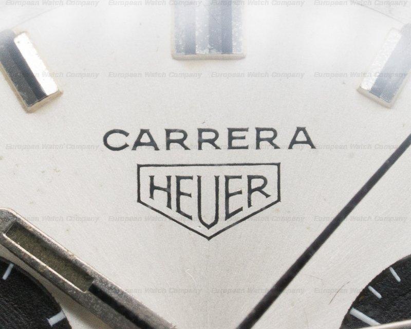 Heuer 7753SND Vintage Carrera 30 Silver PANDA Dial 7753SND Circa 1970s RARE