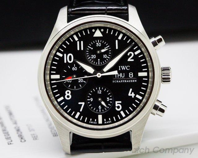 IWC IW371701 Pilot Chronograph SS / Alligator