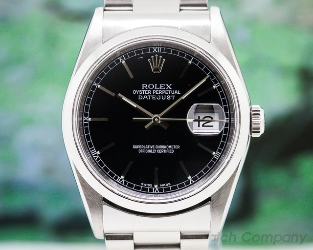 Rolex 16200 Datejust SS Black Dial