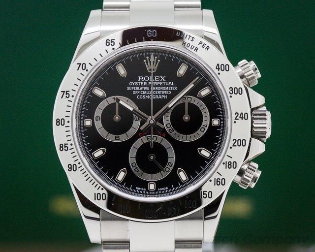 Rolex 116520 Daytona Black Dial SS