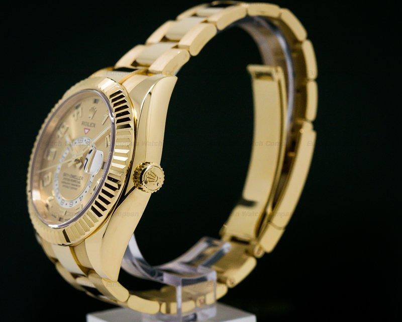 Rolex 326938 Sky Dweller 18K Yellow Gold / Champagne Dial