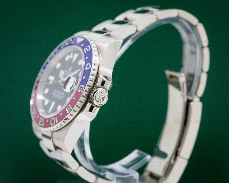 Rolex 116719BLRO GMT Master II Blue / Red 18K White Gold