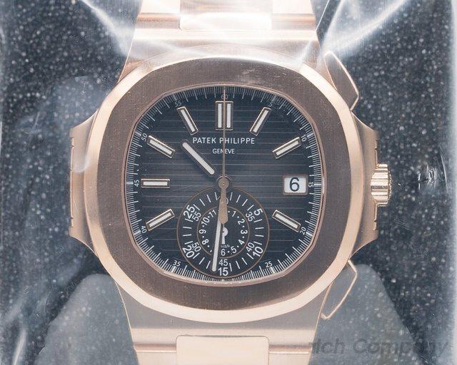 Patek Philippe 5980/1R-001 Nautilus Chronograph 18K Rose Gold SEALED