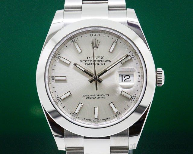 Rolex 126300 Datejust 41 Silver Stick Dial SS