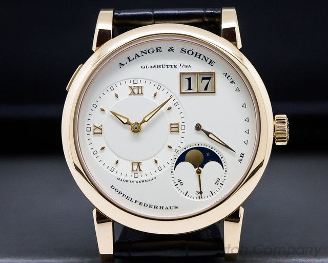 A. Lange and Sohne 109.032 Lange 1 Moon 18K Rose Gold / Deployment Buckle