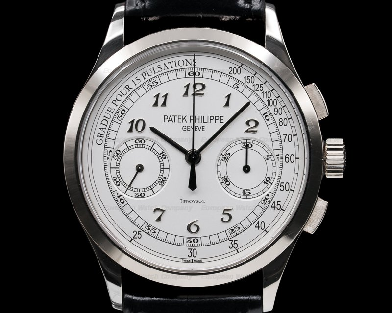 Patek Philippe 5170G-001 Chronograph 18K White Gold TIFFANY & CO Silver Pulsation