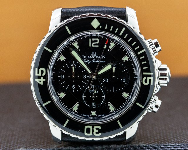 Blancpain 5085-1130-52 Fifty Fathoms Chronograph SS / Kevlar