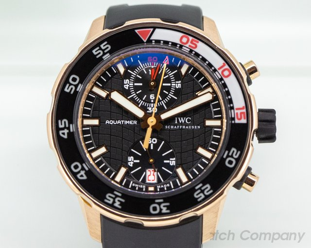 IWC IW376905 IW 18K Rose Gold Aquatimer Flyback Chronograph Rubber