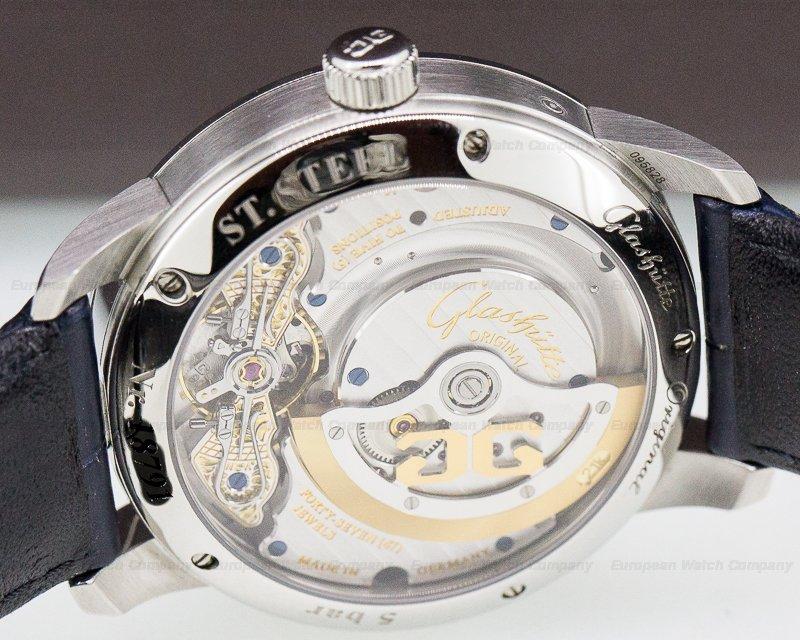 Glashutte Original 1-90-02-46-32-35 PanoMatic Lunar SS Blue Dial