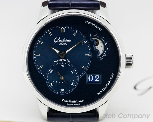 Glashutte Original 1-90-02-46-32-35 PanoMatic Lunar SS Blue Dial