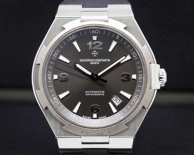 "Vacheron Constantin 47040/000W-9500 Overseas ""Deep Stream"" Automatic Grey Dial Titanium / SS"
