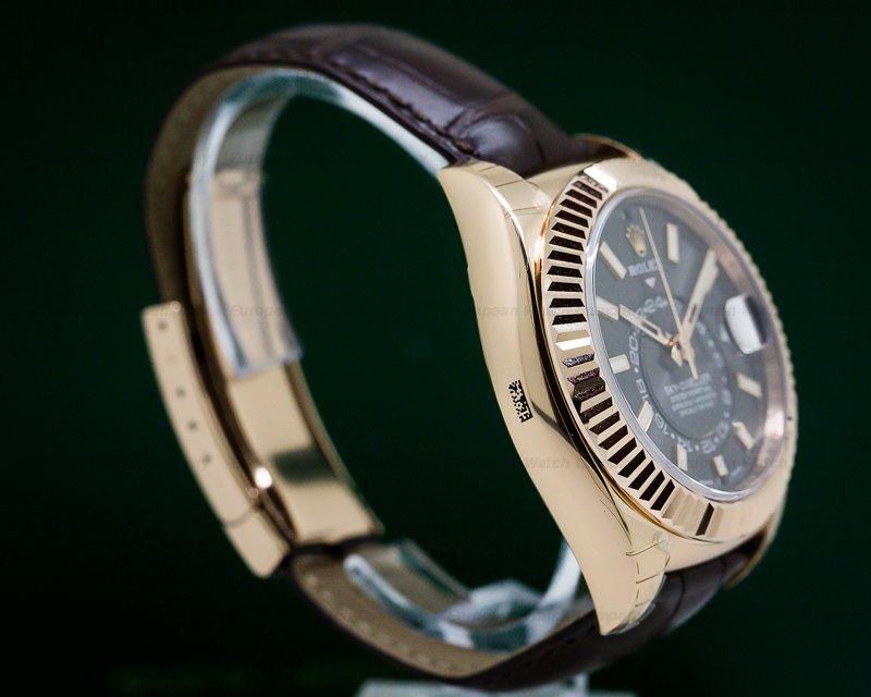 Rolex 326135 Sky Dweller Rhodium Dial Rose Gold / Alligator UNWORN