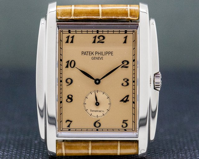 "Patek Philippe 5124G-001 Gondolo ""TIFFANY & CO"" 18K White Gold Manual Wind"