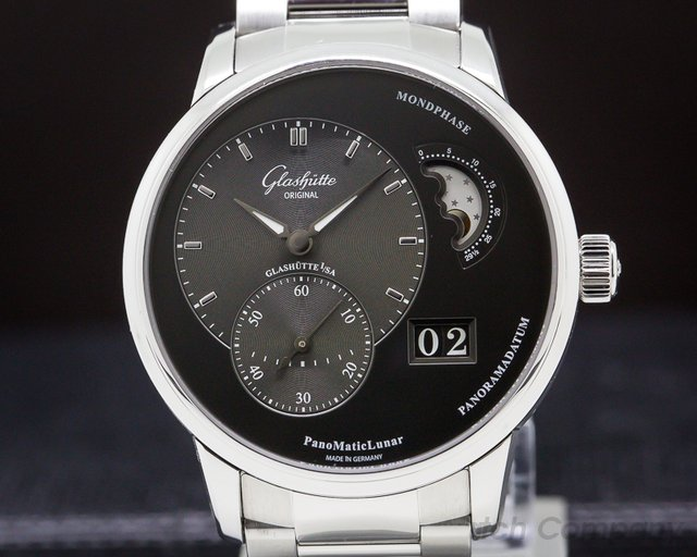 Glashutte Original 90-02-43-32-24 PanoMatic Lunar SS Grey Dial