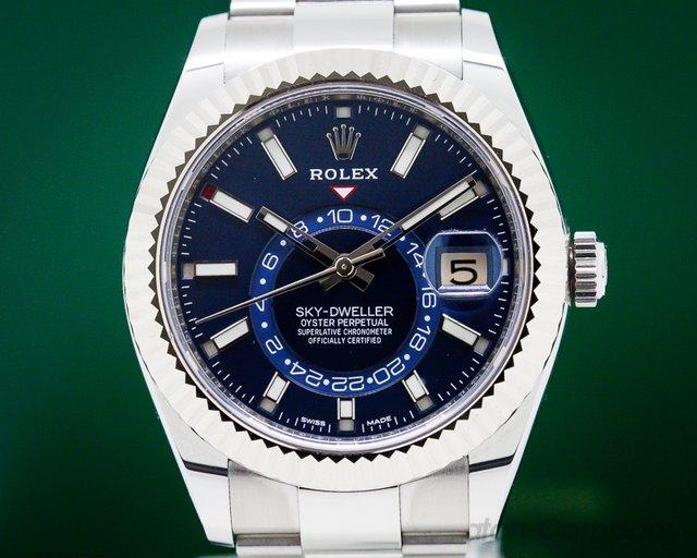 Rolex 326934 Sky Dweller Steel Blue SS UNWORN