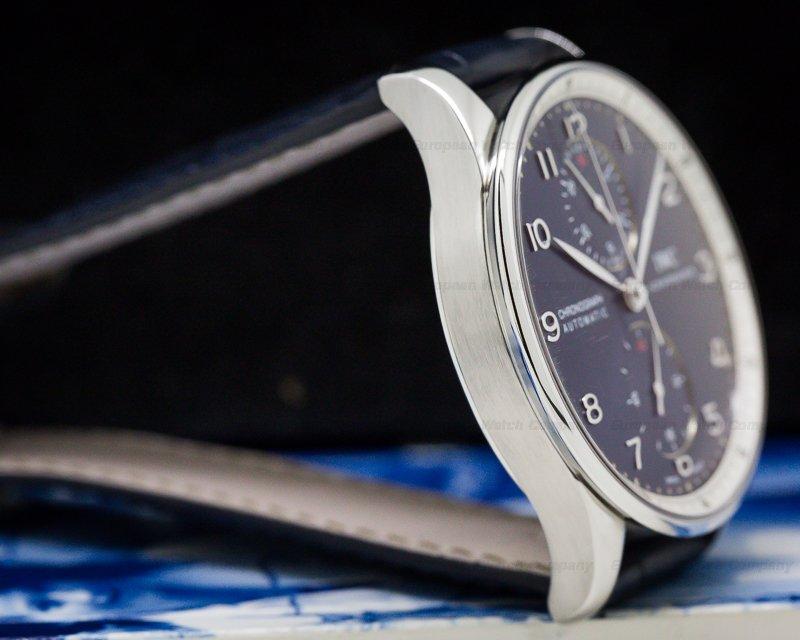 IWC IW371432 Portuguese Chronograph SS LAUREUS Blue Dial