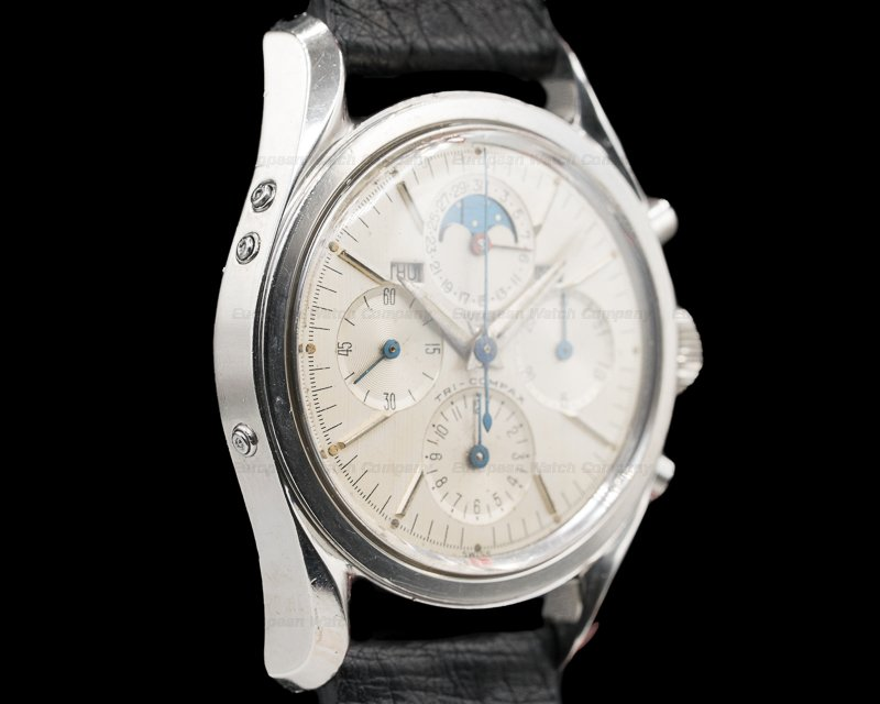 Universal Geneve 222100-1 Tri Compax Stainless Steel / Silver Dial circa 1960