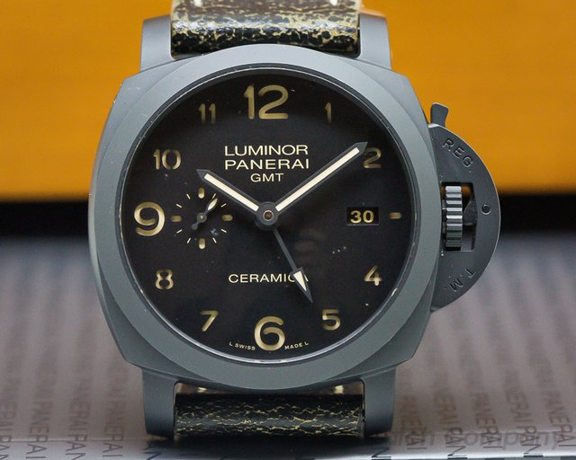Panerai PAM00441 Luminor 1950 3-Day GMT Black Ceramic