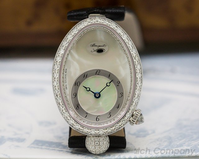 Breguet 8928BB/58/844.DD0D Reine De Naples Mother of Pearl 18K White Gold / Diamonds
