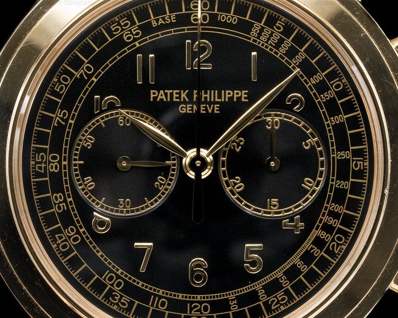 Patek Philippe 5070J-001 5070 Yellow Gold Chronograph Black Dial
