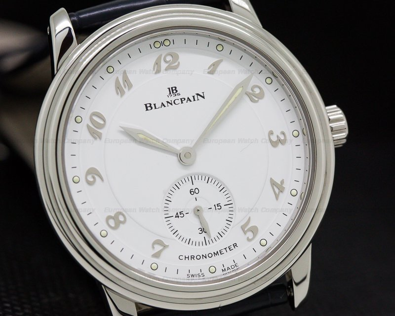 Blancpain 7002-1127-55 Ultra Thin White Dial Manual Wind Chronometer SS