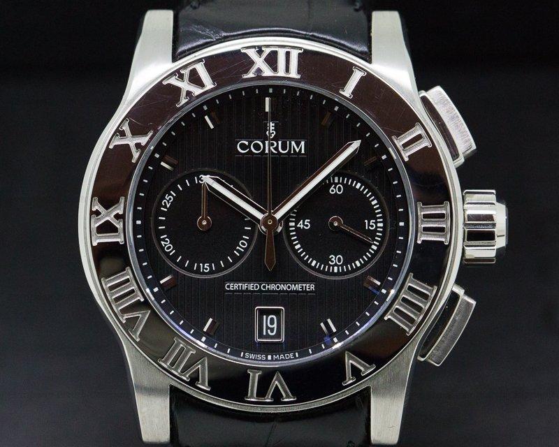 Corum 984.715.20/0F01BN77 ROMVLVS Chronograph SS / Deployant