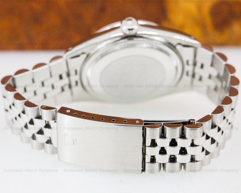 Rolex 16030 Datejust SS White Dial Roman Numerals Jubilee Bracelet