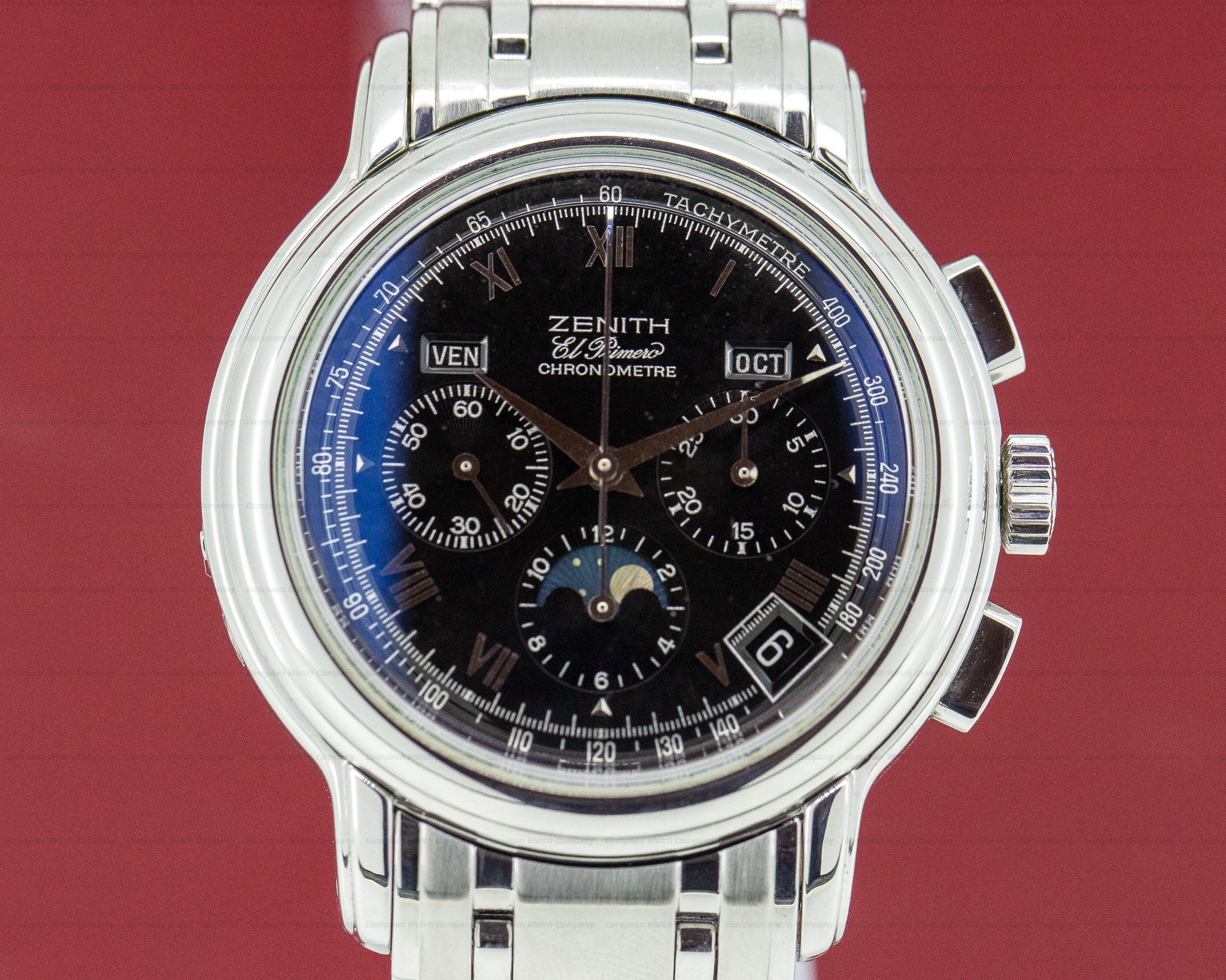 Zenith 02.0240.410 Chronomaster T El Primero Moon Black Dial SS/SS