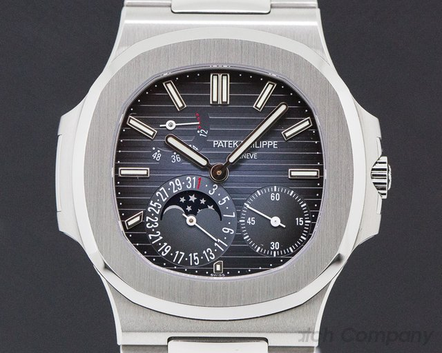 Patek Philippe 5712/1A-001 Jumbo Nautilus Moonphase Power Reserve SS UNWORN