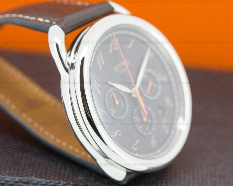 Hermes AR4910332V/BE Arceau Chronograph SS Brown Dial