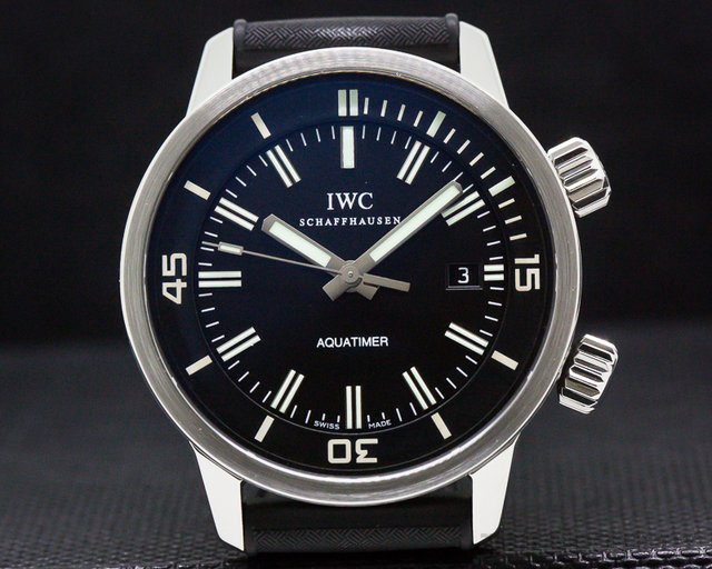 IWC IW323101 Aquatimer Automatic SS Black Dial / Rubber Strap
