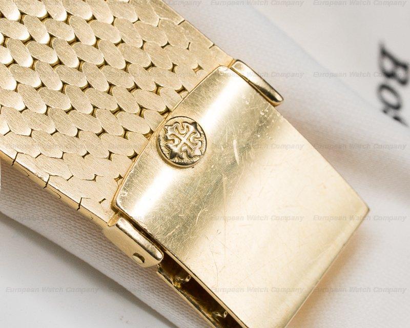Patek Philippe 3544 Ellipse Champagne 18K Yellow Gold / Mesh Bracelet