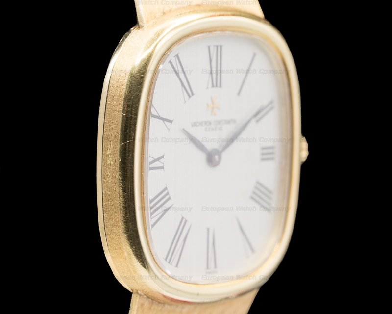 Vacheron Constantin 39007 Ellipse White Dial 18K Yellow Gold / Mesh Bracelet