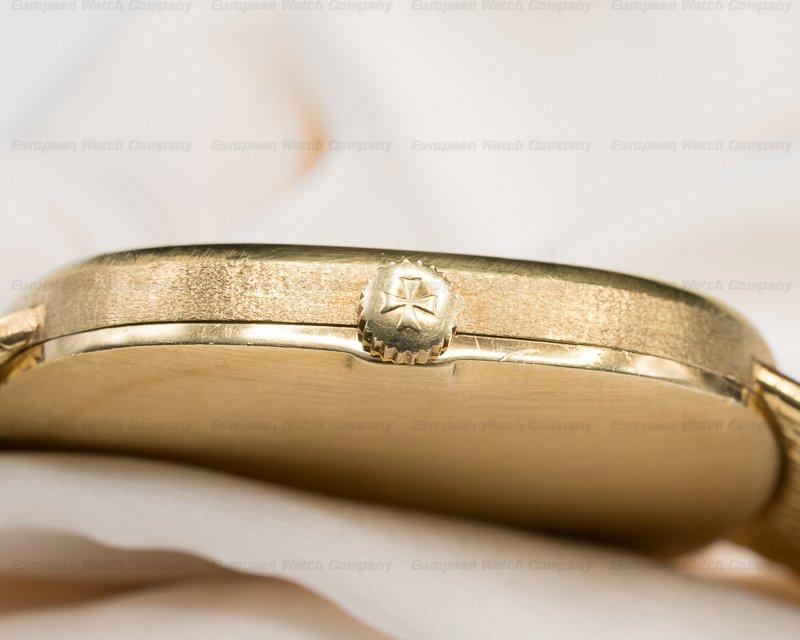 Vacheron Constantin 39007 Ellipse White Dial 18K Yellow Gold / Mesh Bracelet