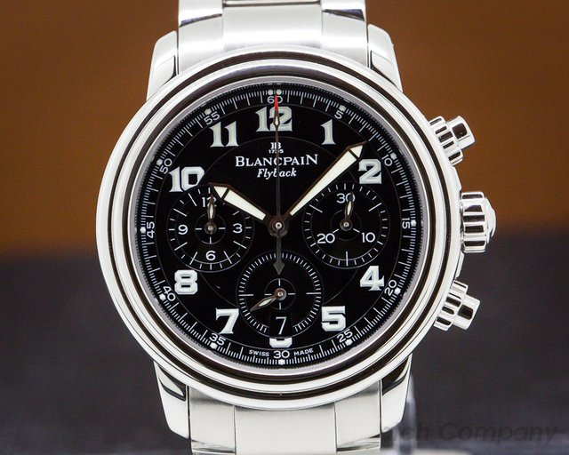 Blancpain 2185F-1130-71B Leman Flyback Chronograph Black Dial SS
