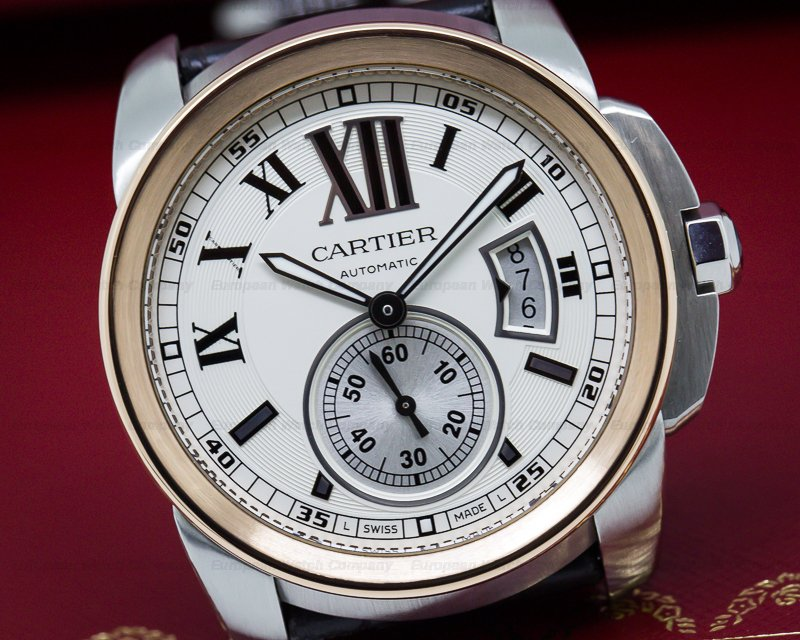 Cartier W7100039 Calibre de Cartier SS / 18K Rose Gold