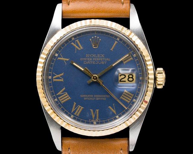Rolex 16013 Datejust 18K/SS Blue Dial