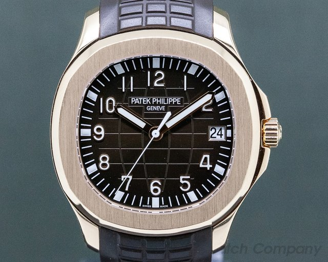 Patek Philippe 5167R-001 Aquanaut 18K Rose Gold / Brown Dial