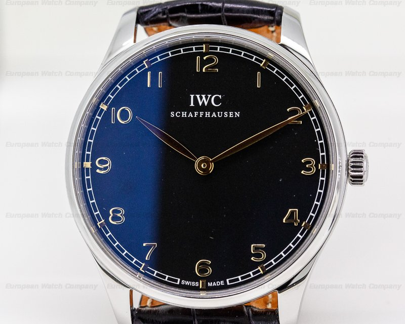 IWC IW570302 Portuguese Pure Classic SS Black Dial