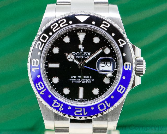 Rolex 116710BLNR GMT Master II Ceramic Black & Blue SS